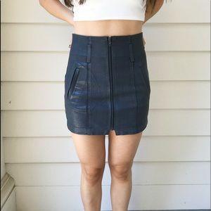 LF CARMAR Wax Denim Grey Skirt Size 25